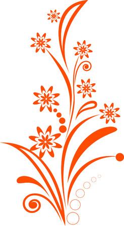 the orange spring flowers Stock Vector - 6466386