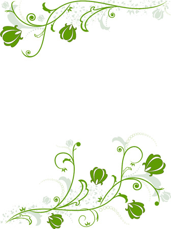 background with the spring flowers and leaves Stock Vector - 6508031