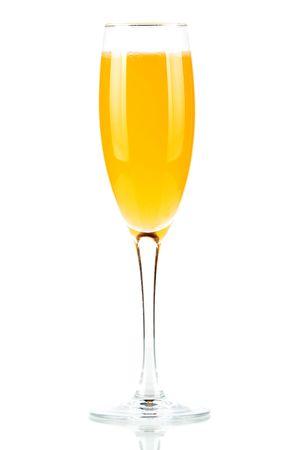 Orange juice cocktail isolated on white background