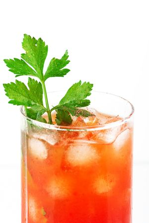 Blood mary alcohol cocktail with tomatos and celery Stock Photo - 6548498