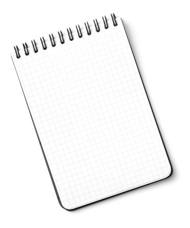 message pad: Blank notepad isolated on white background