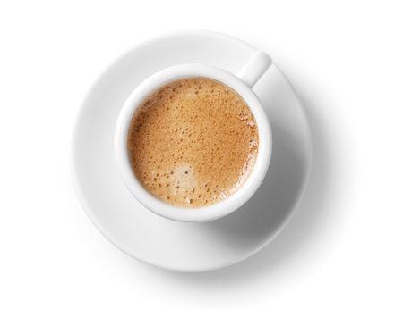 filiżanka kawy: Kolekcja kawy - Puchar espresso. Samodzielnie na białym tle Zdjęcie Seryjne