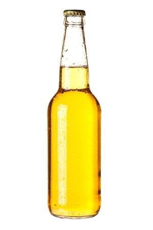 Beer collection - Cold lager beer in bottle. Isolated on white background photo