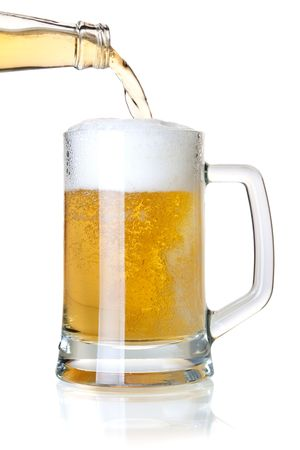 Beer collection - Beer is pouring into a glass from bottle Stock Photo - 6737113