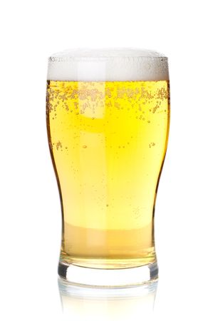 Beer collection - Cold lager beer in glass. Isolated on white background Stock Photo - 6737116