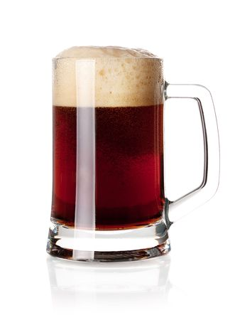 Beer collection - Cold dark beer in glass. Isolated on white background Stock Photo