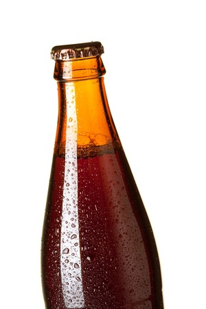 Beer collection - Dark beer bottle. Closeup, isolated on white background Stock Photo - 6840690