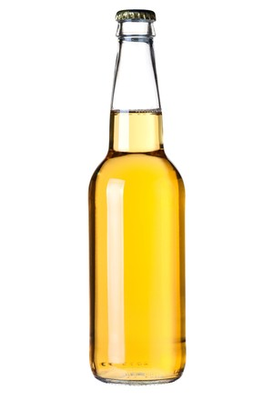 Beer collection - Lager beer bottle. Isolated on white background Stock Photo