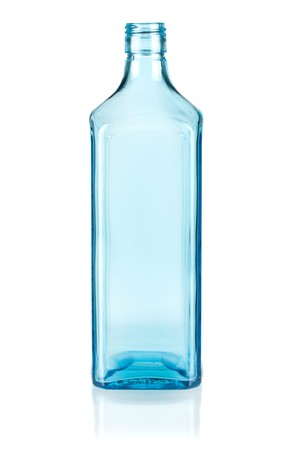 Blue empty bottle. Isolated on white background Stock Photo - 7283953