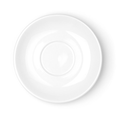 saucer: White plate on white background