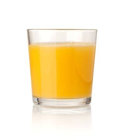 Orange juice. Isolated on white background photo