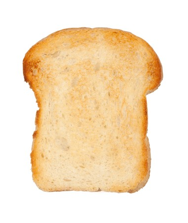 White bread toast. Isolated on white background Stock Photo