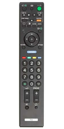 TV remote control. Isolated on white background photo
