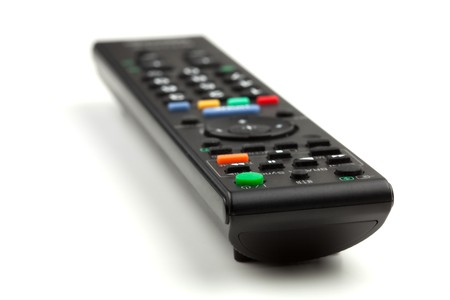 Remote control. Small DOF, Isolated on white background photo