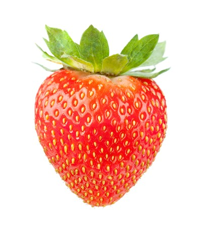 fresa: Fresas frescas. Aislados en fondo blanco  Foto de archivo