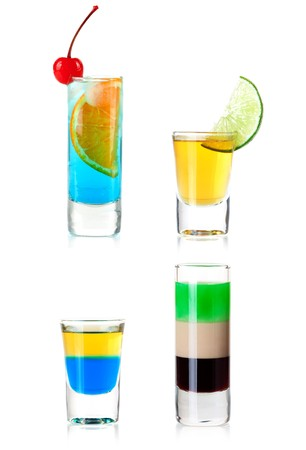 xxxl: Cocktail Collection - Shots. XXXL, isolated on white background