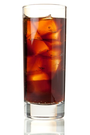 Cola in highball glass. Isolated on white background Stock Photo - 8111543