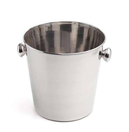 Empty champagne ice bucket. Isolated on white background photo