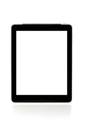 Touch screen tablet computer with white background. Isolated on white Stock Photo - 8326144