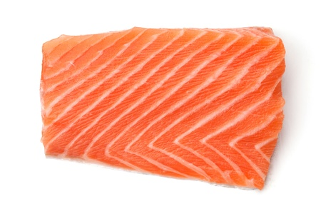 Piece of fresh salmon. Isolated on white background Stock Photo - 8326160
