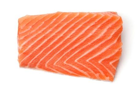Piece of fresh salmon. Isolated on white background Stock Photo - 8326160