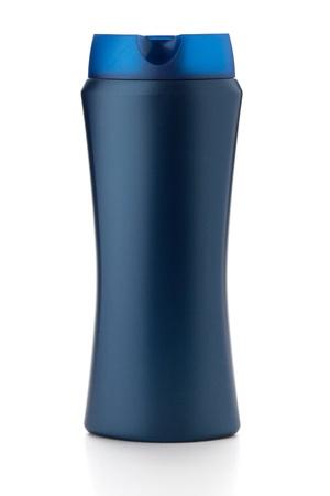 Blue shampoo bottle. Isolated on white background Stock Photo - 8393464