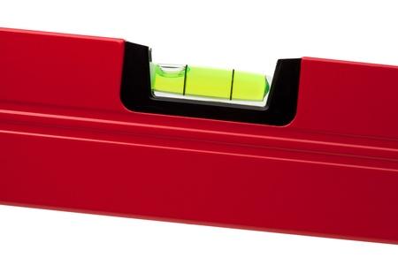 Tools Collection - Bau-Ebene. Closeup, isolated on white background Standard-Bild