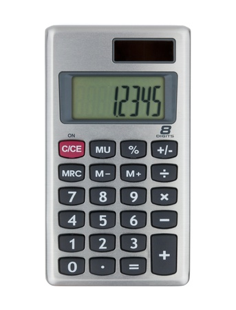 Small calculator. Isolated on white background Stock Photo - 8602607