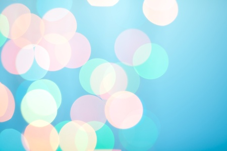 Abstract bokeh on blue background Stock Photo - 8602617