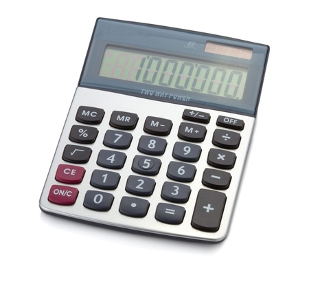 Office digital calculator. Isolated on white backgound Stock Photo - 8701421