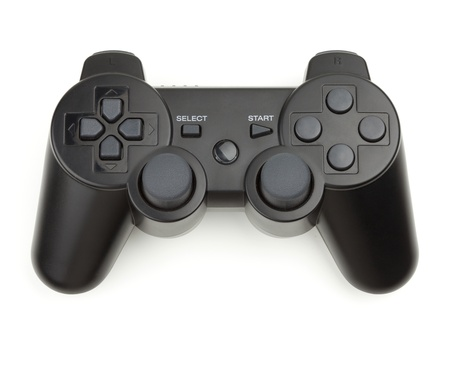 Wireless gamepad. Isolated on white background photo
