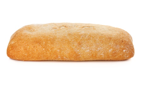 Ciabatta bread. Isolated on white background Stock Photo - 9248300