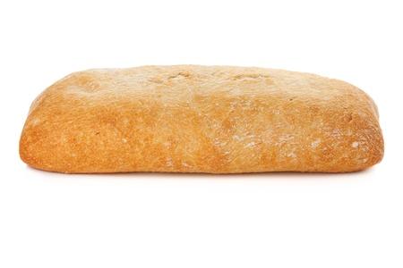 Ciabatta bread. Isolated on white background Stock Photo - 9248300
