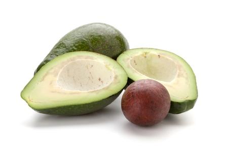 Ripe avocado. Isolated on white background Stock Photo - 9402293