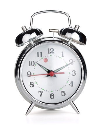 alarm clock: Alarm clock. Isolated on white background Stock Photo