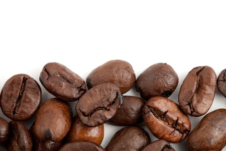 Coffee beans. Isolated on white background Stock Photo - 9559983