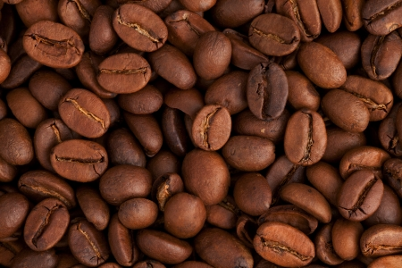 Coffee beans closeup background Stock Photo - 9626968