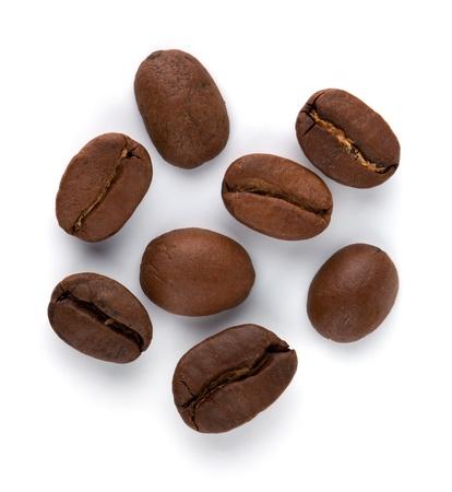 coffe bean: Granos de caf�. Aislados en fondo blanco