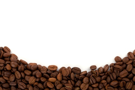 coffe beans: Coffee beans on white background