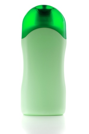 Green shampoo bottle. Isolated on white background Stock Photo - 9703662