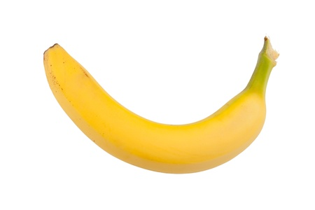 banana skin: Ripe banana. Isolated on white background Stock Photo