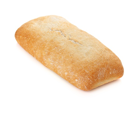 Ciabatta bread. Isolated on white background Stock Photo - 9960757
