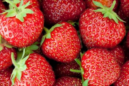 Fresh ripe strawberry closeup wallpaper photo