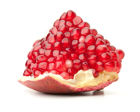 pomegranates: Red pomegranate. Isolated on white background Stock Photo