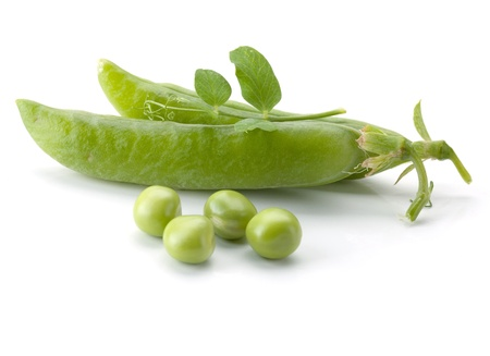 Ripe pea vegetable. Isolated on white background Stock Photo - 10562770