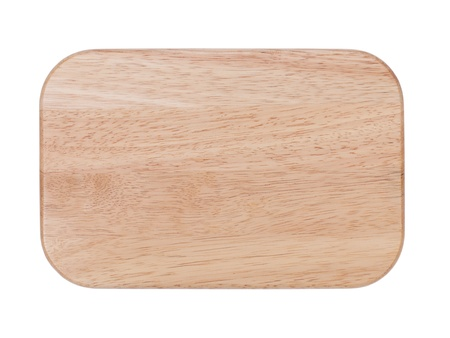 Chopping board. Isolated on white background photo