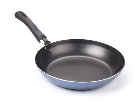 steel pan: La sartén. Aisladas sobre fondo blanco