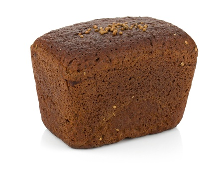 Brown bread. Isolated on white background Stock Photo - 12000093