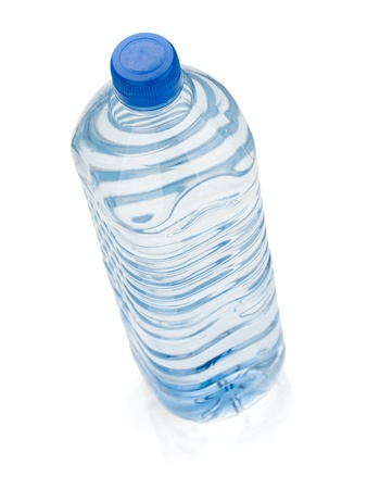 Soda water bottle. View from above. Isolated on white background Stock Photo - 12448399
