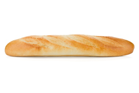 Long loaf. Isolated on white background Stock Photo